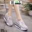 รองเท้าผ้าใบเสริมส้นแบบสวม ST319-WHI [สีขาว] thumbnail 1