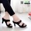 รองเท้าหัวแหลม ส้นทอง สไตล์ซาร่าห์ 2323-ดำ [สีดำ] thumbnail 1