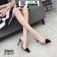 รองเท้าส้นสูงหัวแหลม สักหราด A178-A11-BLK [สีดำ] thumbnail 1