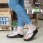 รองเท้าสุขภาพสไตล์ฟิตฟรอปผ้านิ่มมาก F1084-BLK-SIL [สีดำ/เงิน] thumbnail 2
