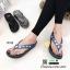 รองเท้าแตะเพื่อสุขภาพ คีบ ติดพลอยสี่เหลี่ยม YT122-น้ำเงิน [สีน้ำเงิน] thumbnail 3