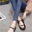 รองเท้าแตะสายไขว้ พื้นหนา 1372-BLK [สีดำ] thumbnail 3