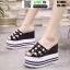 รองเท้าแบบสวมทรงเตารีด ST1804-BLK [สีดำ]