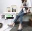 รองเท้าส้นเตารีด หน้าสวม กากเพชร 1902-SIL [สีเงิน] thumbnail 4