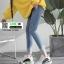 รองเท้าผ้าใบ เสริมส้นหนา G-1364-BLKWHI [สีดำ/ขาว] thumbnail 3