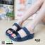 รองเท้าส้นเตารีด style fitflop F1109-BLU [สีน้ำเงิน]