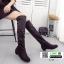 รองเท้าบูทยาวผ้าสักหราดนำเข้า 1235-BLACK [สีดำ] thumbnail 1