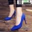 รองเท้าคัชชูหัวแหลม 983-BLU [สีน้ำเงิน] thumbnail 1