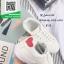 รองเท้าผ้าใบแฟชั่นสีขาว ปักด้ายรูปหัวใจแดง (สีขาว ) thumbnail 3