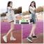 รองเท้าผ้าใบสปอร์ท หนัง pu SG-136-WHT [สีขาว] thumbnail 3