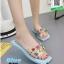 รองเท้าแตะแฟชั่นสีฟ้า หน้าสวมพลาสติกใสนิ่ม (สีสีฟ้า ) thumbnail 3