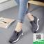รองเท้าผ้าใบไร้เชือกสีเทา แนวสตรีท (สีเทา ) thumbnail 6