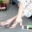 รองเท้าส้นสูงเปิดส้น งานหนัง HT11-CRE [สีครีม] thumbnail 3