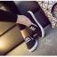 รองเท้าผ้าใบทรงสวมไม่ต้องผูกเชือก 237-BLK [สีดำ] thumbnail 4
