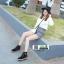 รองเท้าบูทมาร์ตินนำเข้า สไตล์เกาหลี CNC-539-BLK [สีดำ] thumbnail 3