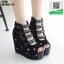 รองเท้าหุ้มส้นทรงเตารีด ST106-BLK [สีดำ]