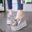 รองเท้าแบบสวมส้นเตารีด ST05-SIL [สีเงิน] thumbnail 2