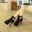 รองเท้าคัชชูเปิดหน้าส้นสูง ST8818-BLK [สีดำ] thumbnail 3