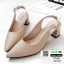 รองเท้าส้นสูง หน้าเรียว ทรงแมกซี่เก๋ 10168-กากี [สีกากี] thumbnail 3