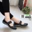 ผ้าใบยางยืด เพื่อสุขภาพเท้า 052-ดำ [สีดำ] thumbnail 1