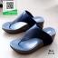 รองเท้าส้นเตารีดแบบสวมสีน้ำเงิน เปิดส้น หูคีบ (สีน้ำเงิน )