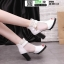รองเท้าบูทหุ้มข้อเปิดหน้า งานนำเข้า100% ST618-WHI [สีขาว] thumbnail 4