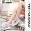 รองเท้าผ้าใบ แบบเสริมพื้นลายดอก W803-PNK [สีชมพู] thumbnail 2