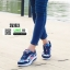 รองเท้าผ้าใบ ทรงสปอร์ต ลายดอกไม้ SM9024-BLU [สีน้ำเงิน] thumbnail 3