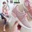 รองเท้าผ้าใบผ้าตาข่ายมีรูระบายอากาศ M27-PNK [สีชมพู] thumbnail 2
