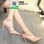 รองเท้าคัชชูรัดข้อหุ้มส้นเปิดข้าง ST8982-PNK [สีชมพู] thumbnail 1