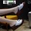 รองเท้าลำลองส้นเตารีด หน้าห่วง 1809-2-WHI [สีขาว]