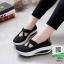รองเท้าผ้าใบ เพื่อสุขภาพกันลื่น 46016-ดำ [สีดำ] thumbnail 1