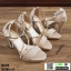 รองเท้าส้นสูงหุ้มข้อรัดส้น สไตล์valentino G5-274-CRM [สีครีม] thumbnail 3