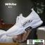 รองเท้าผ้าใบแฟชั่น สไตล์เกาหลี ผ้าตาข่ายนิ่ม C-1-WHI [สีขาว] thumbnail 5