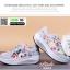 รองเท้าผ้าใบ แบบเสริมพื้นลายดอก W803-PNK [สีชมพู] thumbnail 4