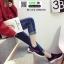 รองเท้าผ้าใบสไตล์เกาหลี IM0223-BLACK [สีดำ] thumbnail 2