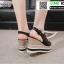 รองเท้าทรงเตารีดแบบรัดท้าย ST3302-BLK [สีดำ] thumbnail 2