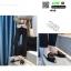 รองเท้าหัวแหลมเปิดส้น หนังชามัวร์นิ่ม 018-BLK [สีดำ] thumbnail 3