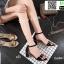 รองเท้าส้นเหลี่ยมรัดข้อ 17-2310-BLK [สีดำ] thumbnail 3