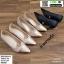 รองเท้าคัชชู วัสดุหนังกริตเตอร์ TM2513-PKG [สีนาค] thumbnail 5