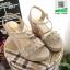 รองเท้าเตารีด แต่งหน้ามุกสีทอง 15198-GRAY [สีเทา] thumbnail 2