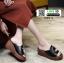 รองเท้าลำลองส้นเตารีด หน้าห่วง 1809-2-BLK [สีดำ] thumbnail 5