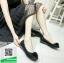 รองเท้าคัทชูเสริมส้นสีดำ พื้นบุนวมนุ่ม (สีดำ ) thumbnail 1