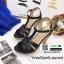 รองเท้าส้นสูง สไตล์แบรนเนม สวยเกร๋ 3006-35-BLACK [สีดำ ] thumbnail 3
