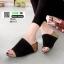 รองเท้าส้นเตารีดหน้าเต็ม 960-15-ดำ [สีดำ] thumbnail 2