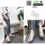 รองเท้าส้นเตารีด หน้าสวม กากเพชร 1902-SIL [สีเงิน] thumbnail 3