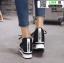 รองเท้าผ้าใบเสริมส้น งานนำเข้า100% ST315-BLK [สีดำ] thumbnail 5