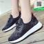 รองเท้าผ้าใบเสริมส้นสีดำ ทรงSport (สีดำ ) thumbnail 2