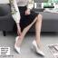 รองเท้าคัชชู วัสดุหนังPU K9336-WHI [สีขาว]