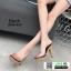 รองเท้าส้นสูงเปิดส้น ส้นไม้ หน้าใส 3006-92A-BLK [สีดำ] thumbnail 2